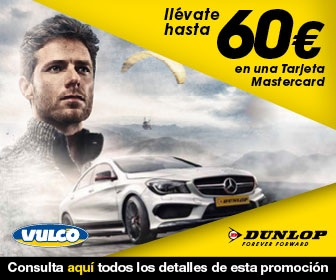 Consigue en Vulco hasta 60 euros por cada cambio de neumaticos Dunlop