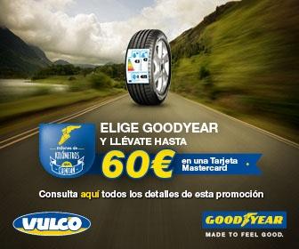 Vulco te regala hasta 60 euros por cada cambio de neumaticos Goodyear