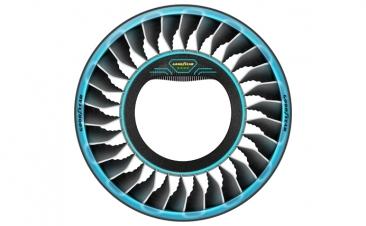 Este neumático permitirá a los coches rodar… ¡y también volar!