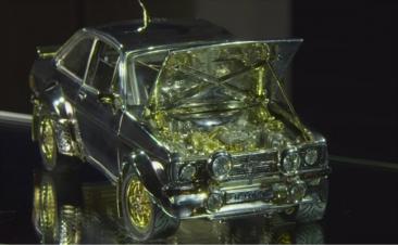 ¿Habías visto alguna vez un coche de diamantes y metales preciosos?