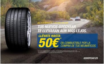 Goodyear te regala hasta 50 euros en combustible por cambiar neumáticos