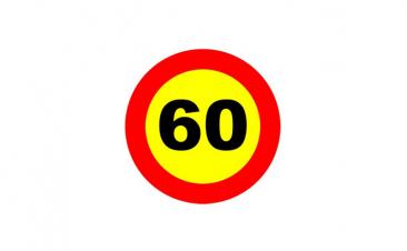 ¿Hasta dónde se debe respetar un límite de velocidad por obras?