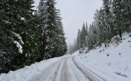 Este es el código de colores para carreteras nevadas