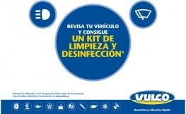 Vulco te regala un kit desinfectante por revisar tu vehículo