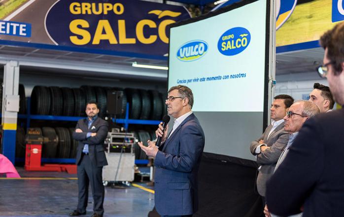 Hugo Carvalho, durante la presentación de los nuevos talleres