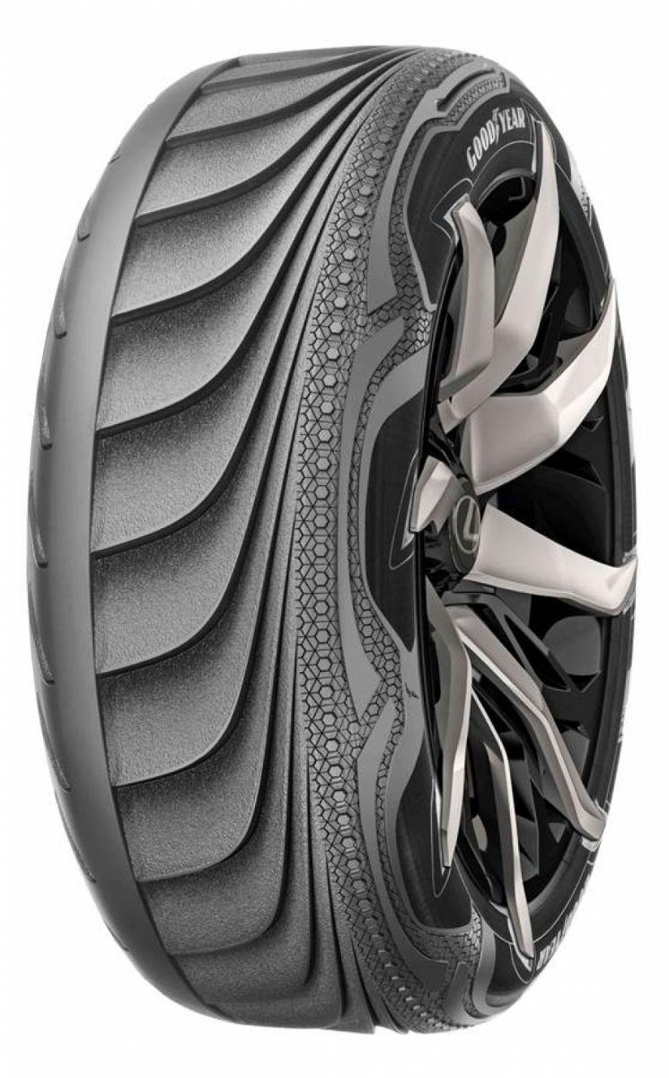 Prototipo de neumático que se adapta a las formas de carretera