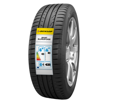 Neumático Dunlop con el etiquetado europeo