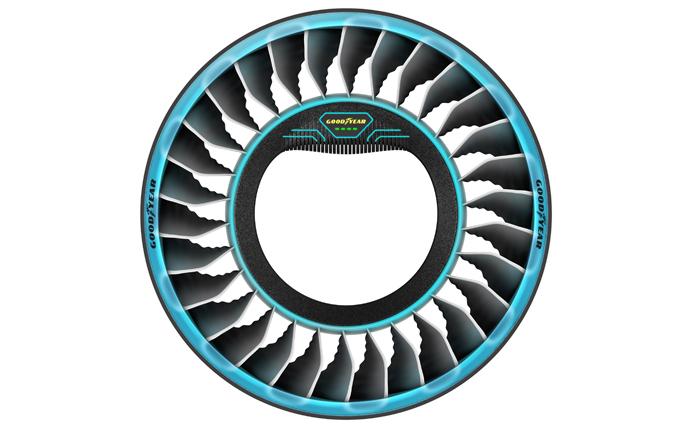 Goodyear AERO neumático hélice coche volador